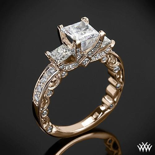 This beautiful 3 Stone Engagement Ring