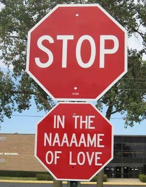 The Supreme stop sign.