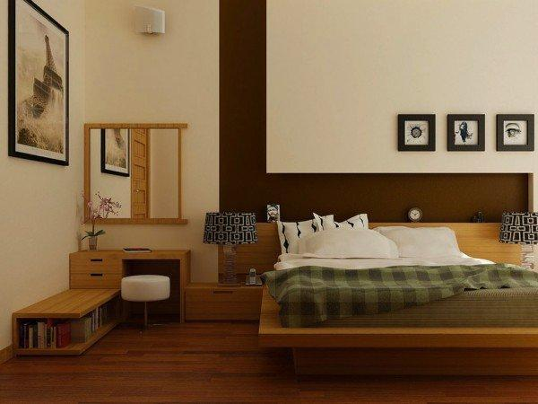 Bed Room Design With Wood