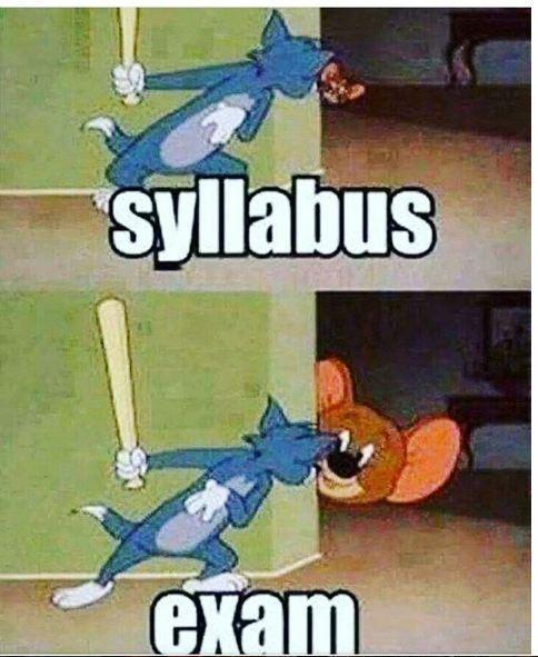 Syllabus and exam
