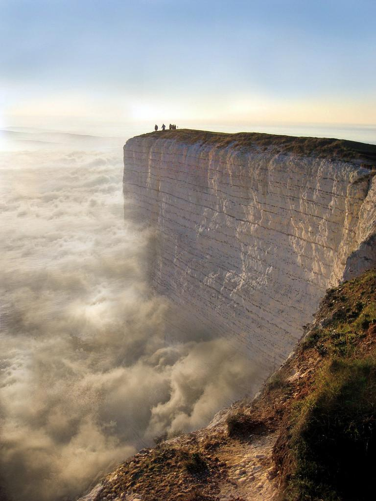 Edge of the Earth in Beachy Head, England. Photographer unknown.