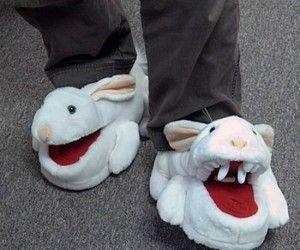 Killer Bunny Slippers($27.64) Be careful wearing these bunny slippers,