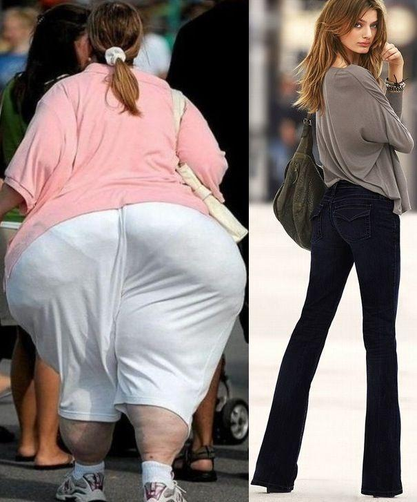 Big Butt Fashion Tip - Same Girl in White vs Black