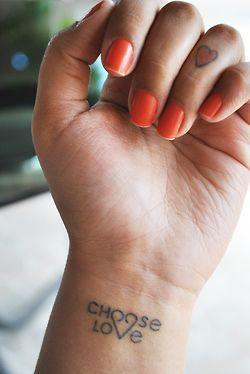 Choose love tattoos idea
