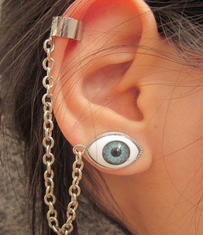 Evil Eye Ear Cuff Cute Clip Earrings