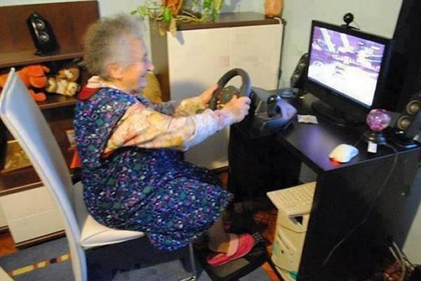 Grandma is having Fun