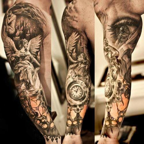Amazing tattoos in the arm