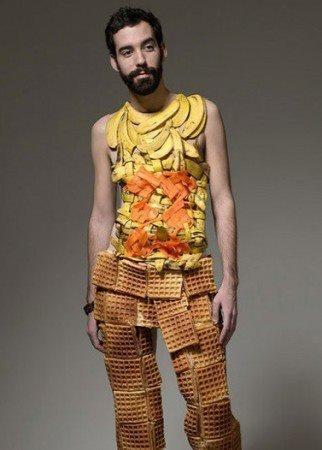 Is it my imagination, or is this guy wearing pants made out of waffles