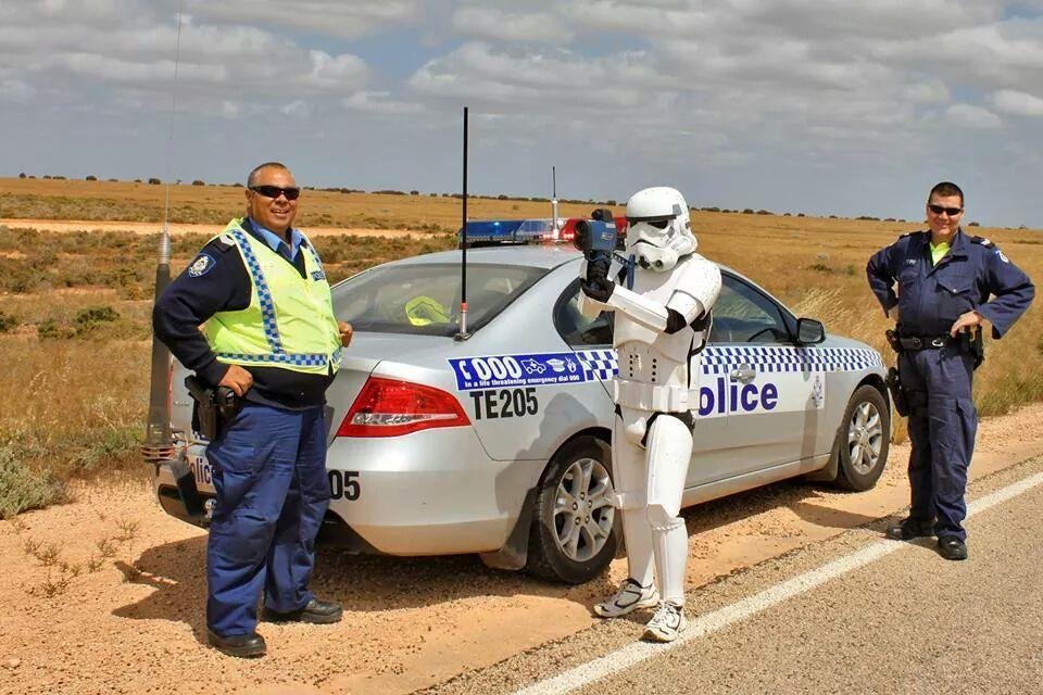 Happy Star Wars day from the Western Australia police