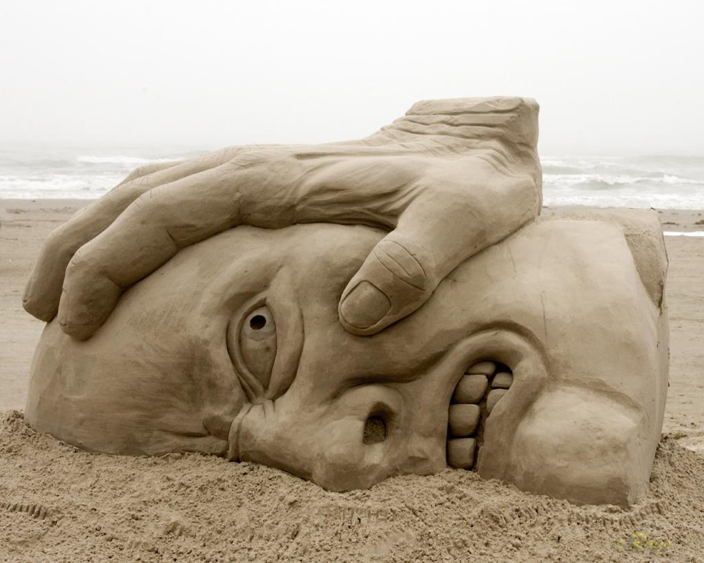 face sand