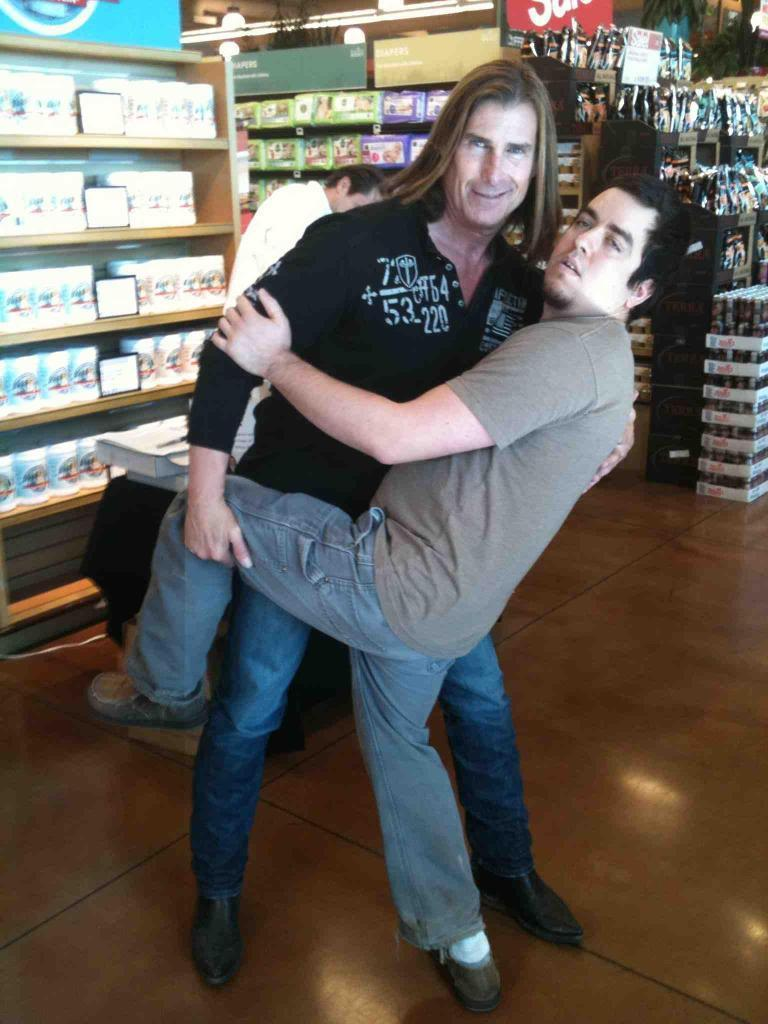 Here is my Fabio picture when he came promoting his protein