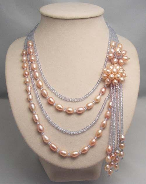 Bridesmaid gift ,Bead Necklace,Beaded Jewelry,Pearl Necklace