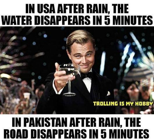 Effects Of Rain In  USA & Pakistan?