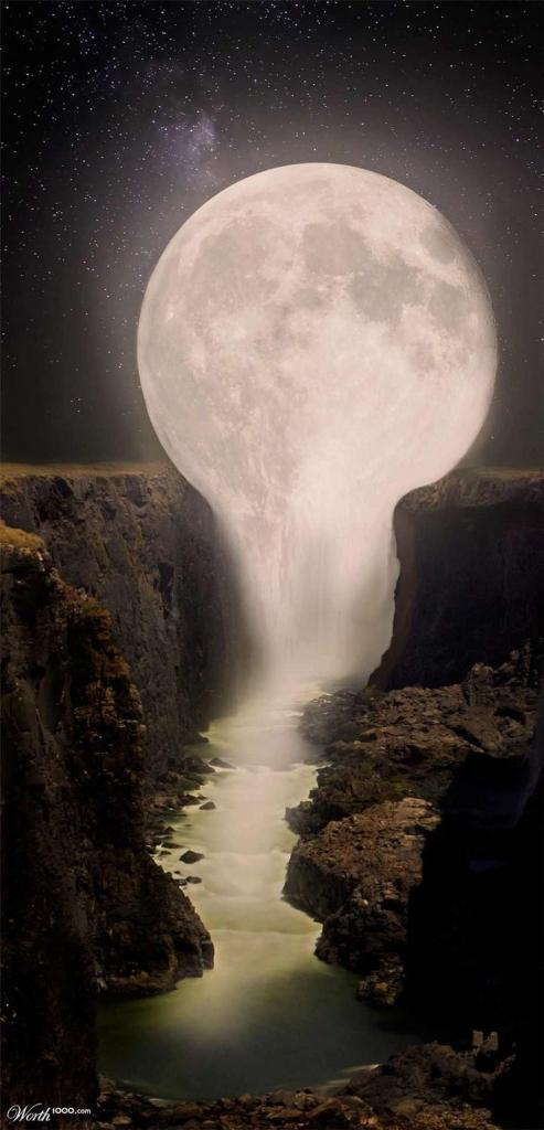 Moon Falls is located on the Moon River, just outside the village of W