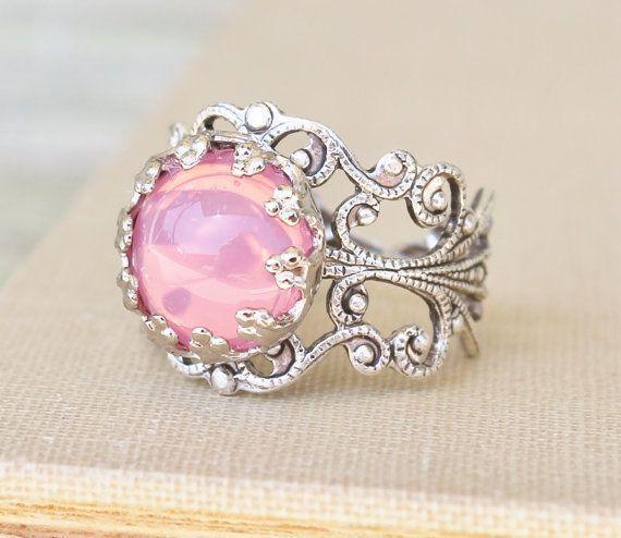 Vintage Pink Opal Ring