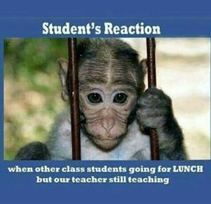 Student's Reaction on teacher teaching late