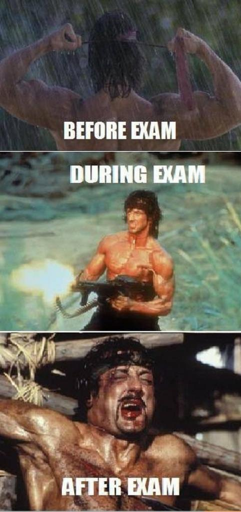Before and After Exam... LOL