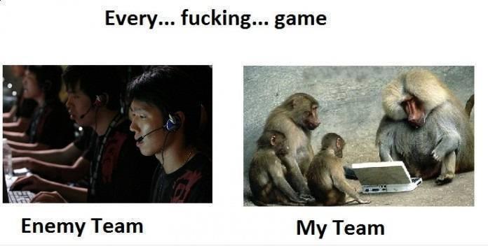 Enemy Team Vs My Team in Game