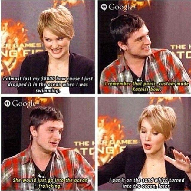 Josh Hutcherson and Jennifer Lawrence... LOL