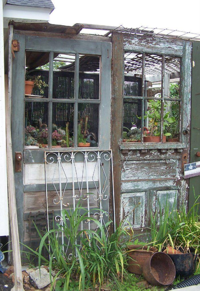 the whole website is greenhouses from recycled doors and windows