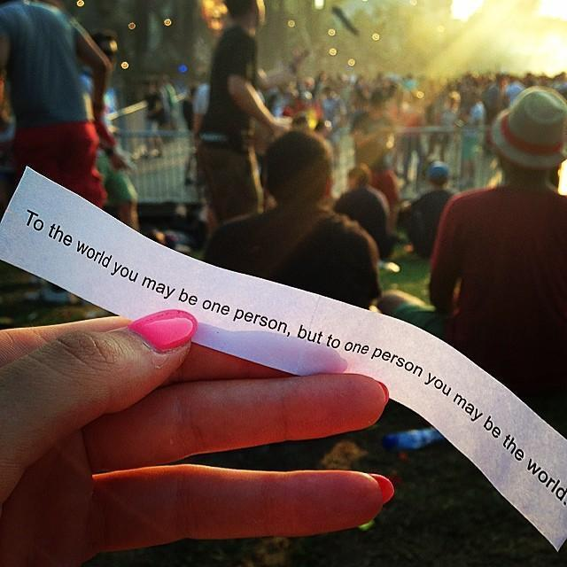 Feeling down Motivating text from Tomorrowland