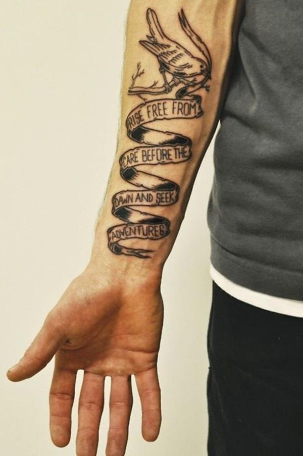 Text tattoos for men
