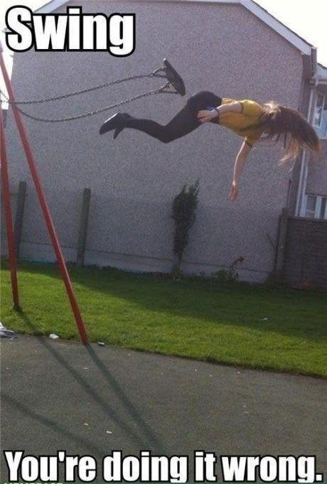 Fall From Swing... Fail Pics