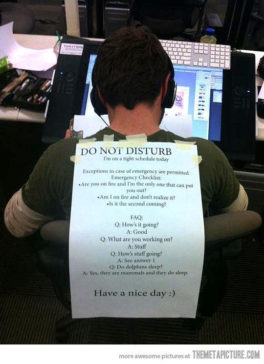 Please do not disturb...Must make one of these for my hubby. :)