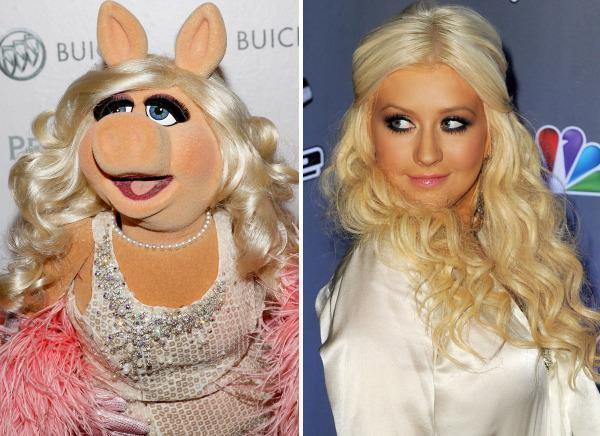 Miss Piggy & Christina Aguilera