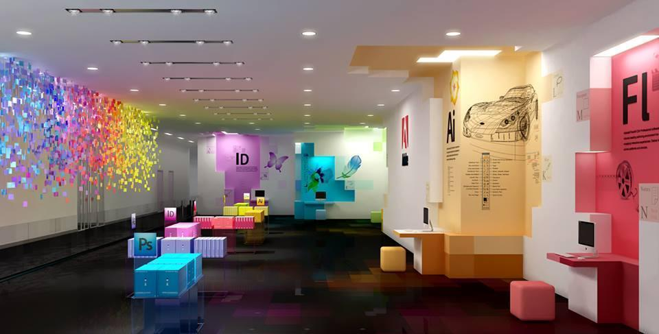 An artist's visualization of Adobe's offices..