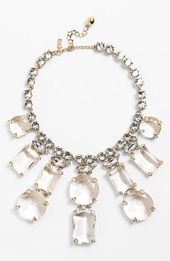 Statement necklace.