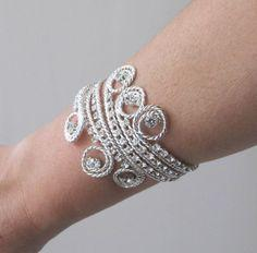 Grecian Inspired Egyptian Bridal Rhinestone Wedding Bracelet Jewellry