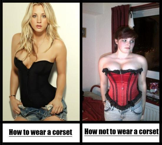 DON'T WEAR A CORSET IF YOU LOOK LIKE THAT!
