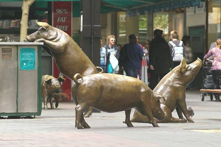 Pig statue!