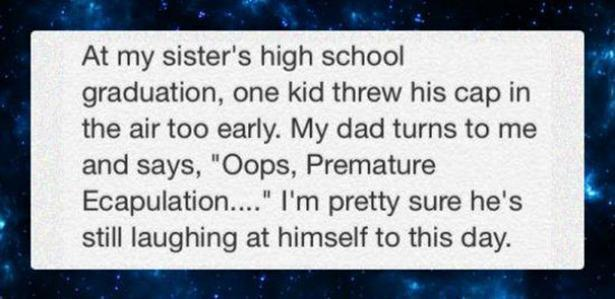 This definitely sounds like my dad..