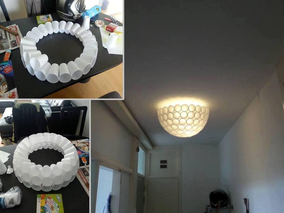 Homemade Plastic Cup Lamp
