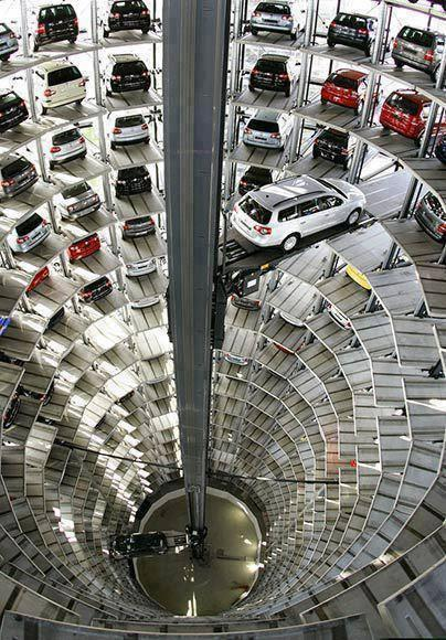 Parking plaza VolksWagen factory in Germany