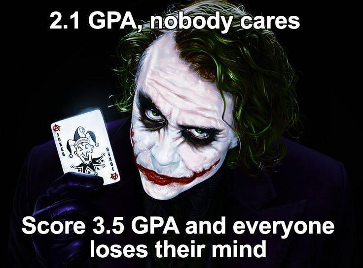 2.1 Vs 3.5 GPA... LOL