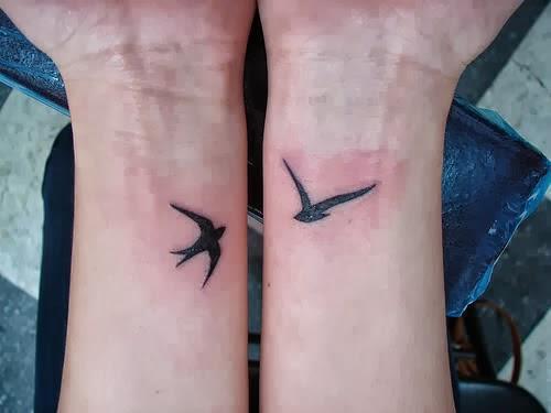 Wrist Bird Tattoos