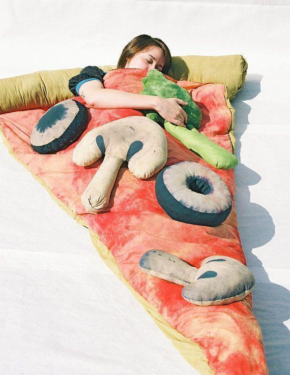 Slice of Pizza Sleeping Bag w Veggie Pillows