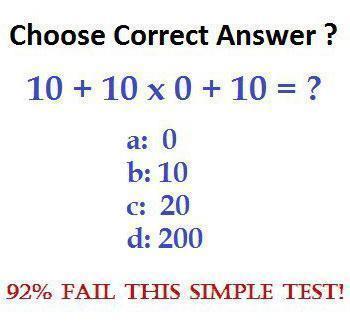 Simple Maths Test