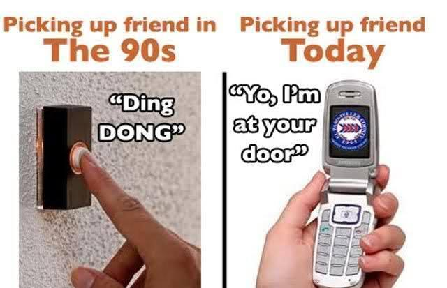 So incredibly true! Who uses the doorbell when going to a friends hous
