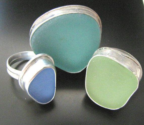 Sea Glass Rings For Susan Furbee