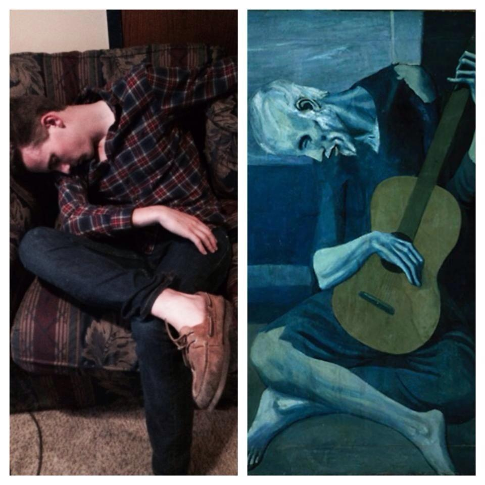 My buddy drank a little too much the other night... Picasso had alread