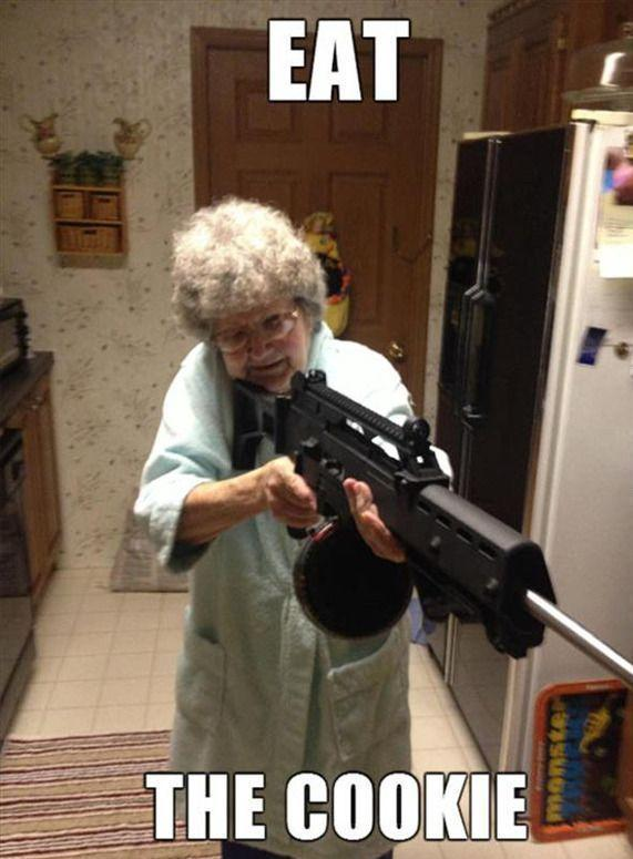 Grandmothers forcing food down