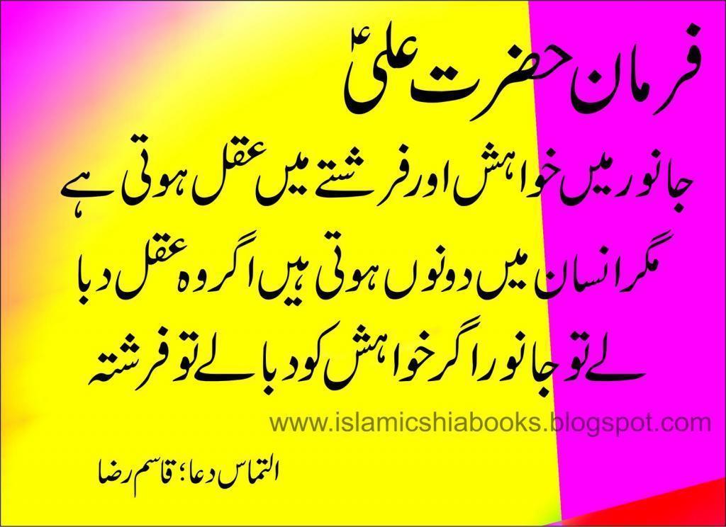 Hazrat Ali Farman