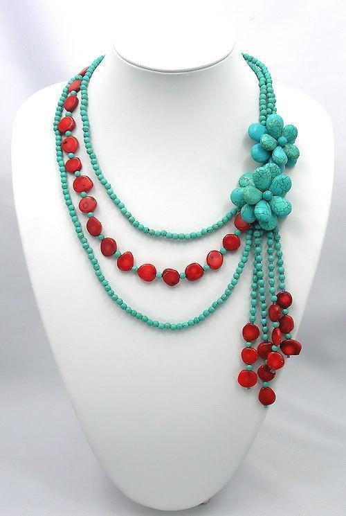 Beadwork necklace,bib necklace