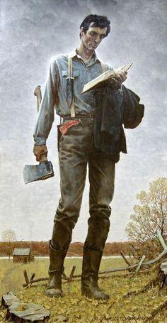 Lincoln the railsplitter by Norman Rockwell.  Awesome.
