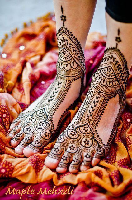 Foot Mehendi Design