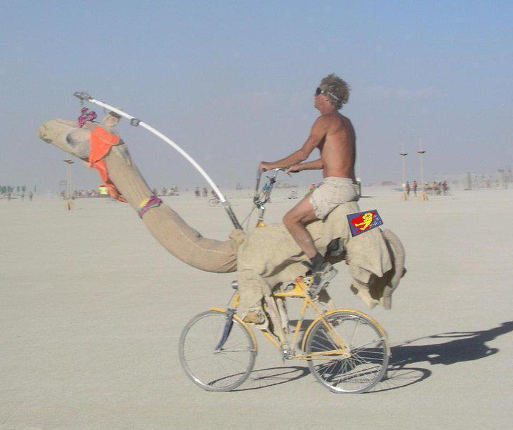 Unique cycling in Abu Dhabi.... lol